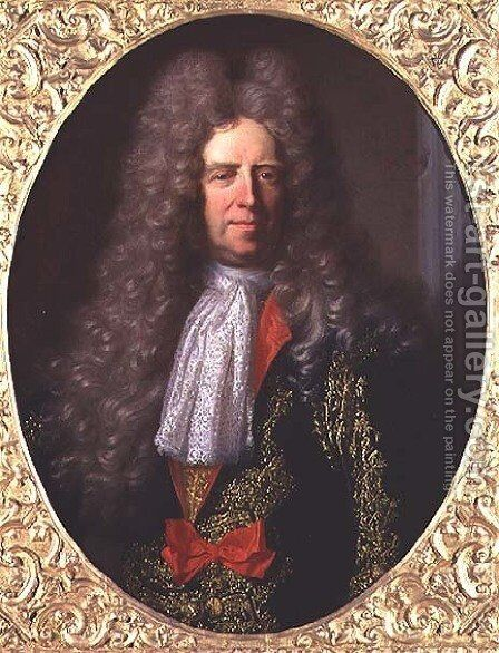Count Ferdinand Bonaventura Harrach 1636-1706, Chief Steward to King Leopold I of Hungary 1640-1705, 1698 by Hyacinthe Rigaud - Reproduction Oil Painting
