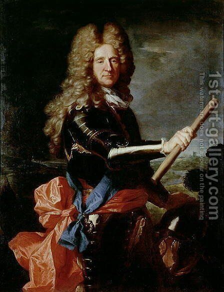 William Bentinck, Earl of Portland 1649-1709, 18th century by Hyacinthe Rigaud - Reproduction Oil Painting