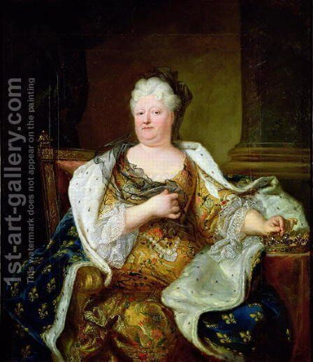 Portrait of Elizabeth Charlotte of Bavaria, Duchess of Orleans by Hyacinthe Rigaud - Reproduction Oil Painting