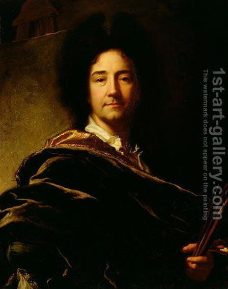 Self Portrait, 1716 by Hyacinthe Rigaud - Reproduction Oil Painting