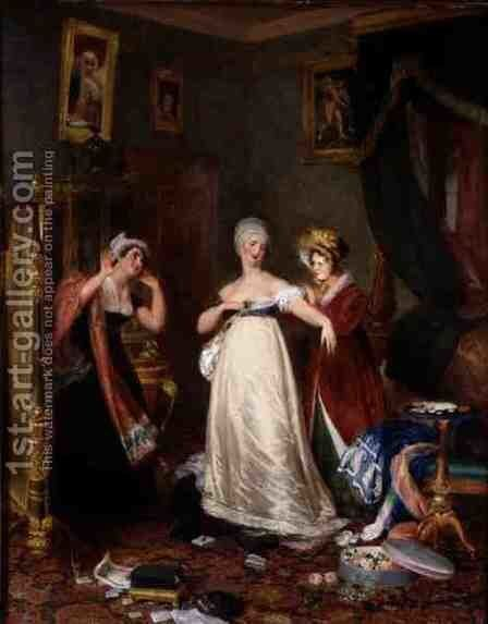 Casting Off the Widows Weeds, 1823 by Henry James Richter - Reproduction Oil Painting