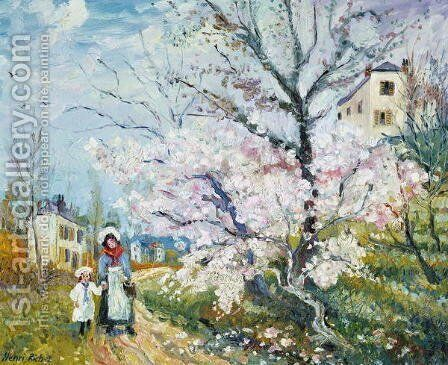 Spring Blossom by Henri Richet - Reproduction Oil Painting