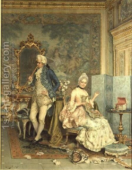 The Quarrel by Arturo Ricci - Reproduction Oil Painting