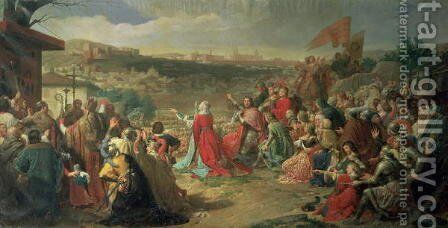 The Fall of Granada in 1492, 1890 by Carlos Luis Ribera y Fieve - Reproduction Oil Painting