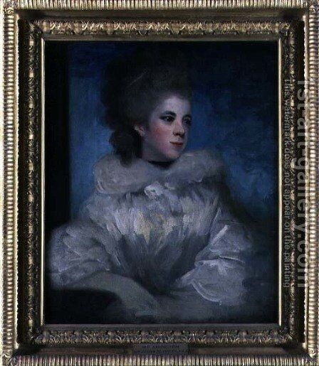 Mrs Abington 1737-1815 by Sir Joshua Reynolds - Reproduction Oil Painting