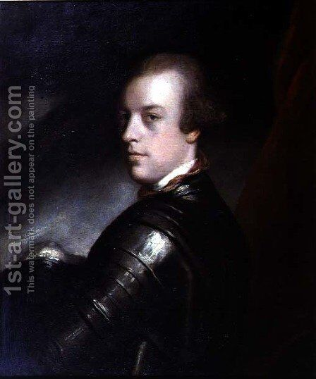 Portrait of Mr Amherst 1717-97 1760 by Sir Joshua Reynolds - Reproduction Oil Painting
