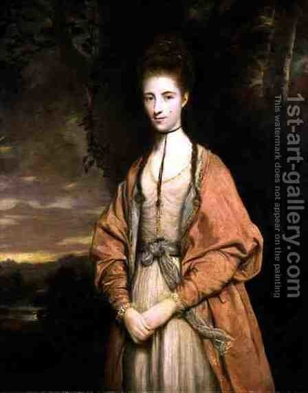 Anne Seymour Damer 1749-1828, 1773 by Sir Joshua Reynolds - Reproduction Oil Painting