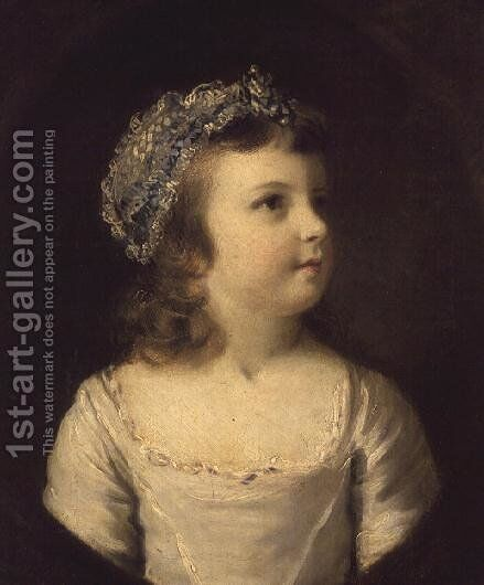 Portrait of Lady Mary Somerset 1756-1831 1761 by Sir Joshua Reynolds - Reproduction Oil Painting