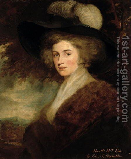 Portrait of Mrs. Charles James Fox, 1784-9 by Sir Joshua Reynolds - Reproduction Oil Painting