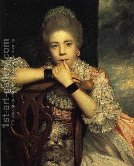 Mrs. Abington, 1771 by Sir Joshua Reynolds - Reproduction Oil Painting