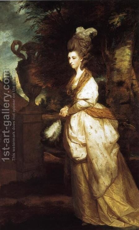 Portrait of Lady Hertford 1759-1834 1777-78 by Sir Joshua Reynolds - Reproduction Oil Painting