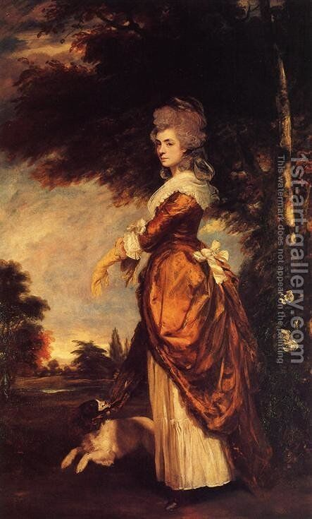 Mary Amelia, 1st Marchioness of Salisbury 1750-1835, 1780-1 by Sir Joshua Reynolds - Reproduction Oil Painting