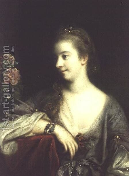 Mrs. Dominic Angelo, c.1759 by Sir Joshua Reynolds - Reproduction Oil Painting