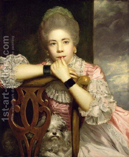 Mrs Abington as Miss Prue in Congreves Love for Love, 1771 by Sir Joshua Reynolds - Reproduction Oil Painting