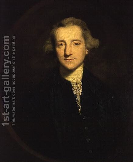 Portrait of Henry Vansittart 1732-70 1753-4 by Sir Joshua Reynolds - Reproduction Oil Painting