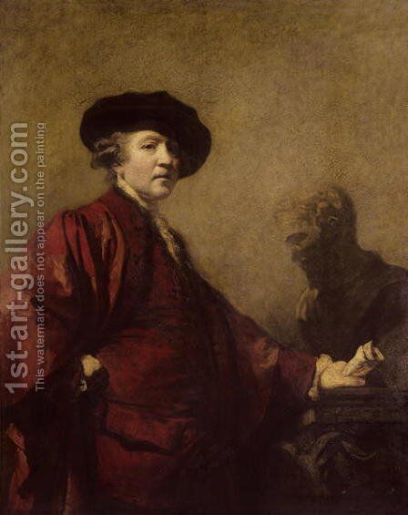 Self portrait, c.1779-80 by Sir Joshua Reynolds - Reproduction Oil Painting
