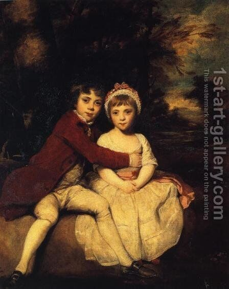 John Parker and his sister Theresa, 1779 by Sir Joshua Reynolds - Reproduction Oil Painting