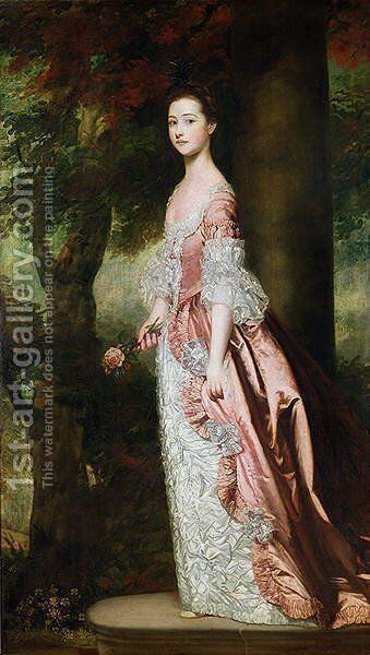Miss Susanna Gale, 1763-64 by Sir Joshua Reynolds - Reproduction Oil Painting