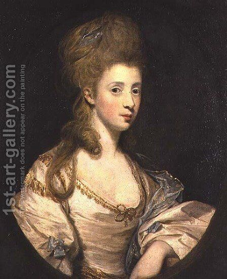 Portrait of Mrs. John Musters d.1819 c.1777-80 by Sir Joshua Reynolds - Reproduction Oil Painting