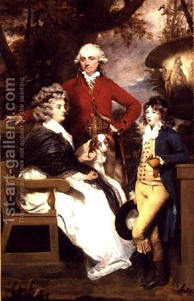 The Braddyll Family, 1789 by Sir Joshua Reynolds - Reproduction Oil Painting