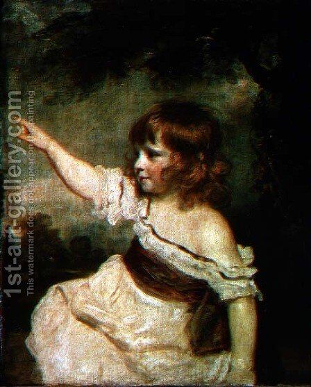 Portrait of Francis George Hare, oldest son of Francis Hare Naylor 1753-1815 1788-9 by Sir Joshua Reynolds - Reproduction Oil Painting