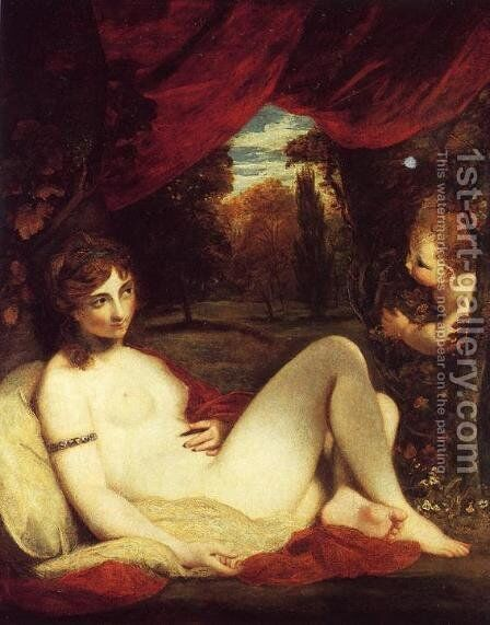 Venus and Cupid, c.1785 by Sir Joshua Reynolds - Reproduction Oil Painting