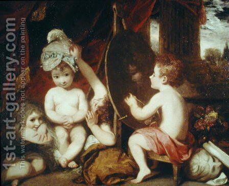 The Infant Academy, 1781 by Sir Joshua Reynolds - Reproduction Oil Painting