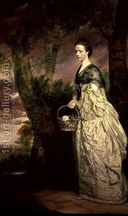 Mrs. Ridell by Sir Joshua Reynolds - Reproduction Oil Painting