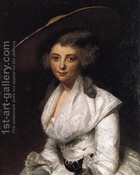 The Honourable Miss Bingham, engraved by Francesco Bartolozzi 1727-1815, pub. by E.M. Diemar, 1786 by Sir Joshua Reynolds - Reproduction Oil Painting