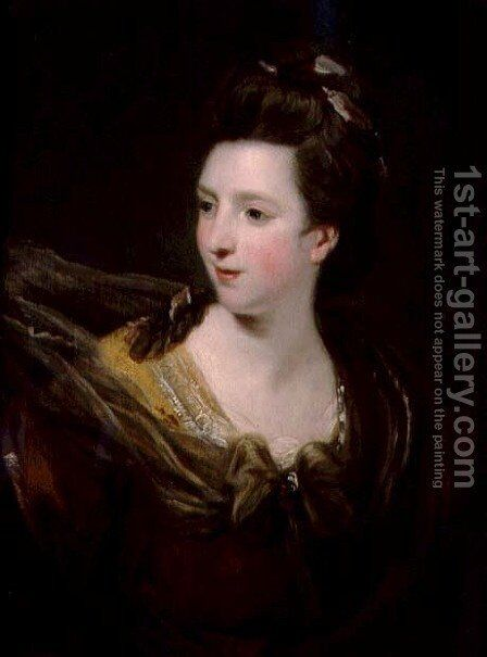 Portrait of Elizabeth Montgomery, c.1773 by Sir Joshua Reynolds - Reproduction Oil Painting