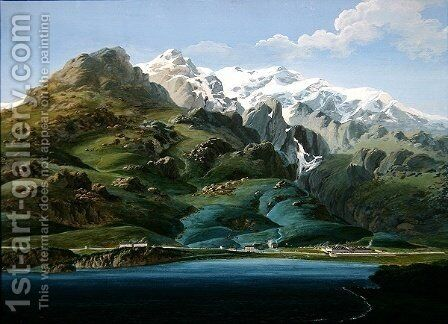 View of Mont Cenis by J. Reviglio - Reproduction Oil Painting