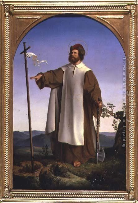 St Boniface 672-754 1832 by Alfred Rethel - Reproduction Oil Painting