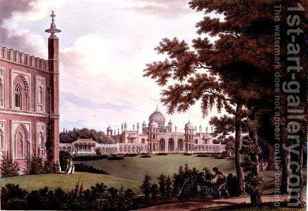 The West Front from Designs for the Royal Pavilion by Humphry Repton 1752-1818, 1808 by Humphry Repton - Reproduction Oil Painting