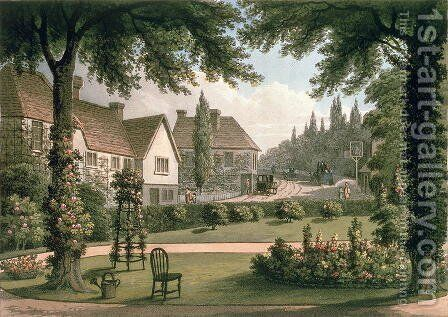 View from My Own Cottage in Essex After from Fragments on the Theory and Practice of Landscape Gardening, pub. 1816 by Humphry Repton - Reproduction Oil Painting