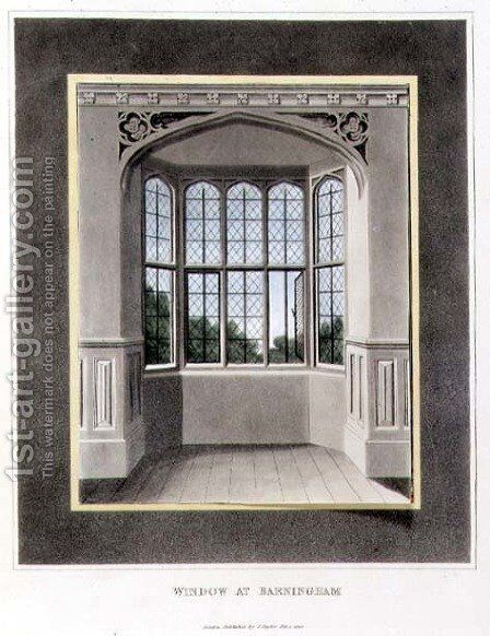 Window at Barningham Before from Fragments on the Theory and Practice of Landscape Gardening, pub. 1816 by Humphry Repton - Reproduction Oil Painting