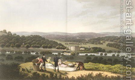 General View of Longleat from the Prospect Hill, from Fragments on the Theory and Practice of Landscape Gardening, pub. 1816 by Humphry Repton - Reproduction Oil Painting