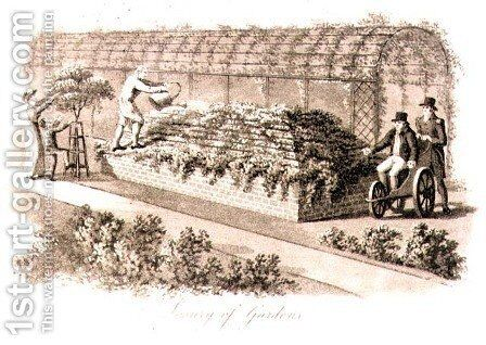 Luxury of Gardens, from Fragments on the Theory and Practice of Landscape Gardening, pub. 1816 by Humphry Repton - Reproduction Oil Painting