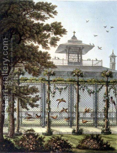 The Pheasantry, engraved by Joseph Constantine Stadler fl.1780-1812 from Designs for the Pavilion at Brighton, pub. 1808 by Humphry Repton - Reproduction Oil Painting