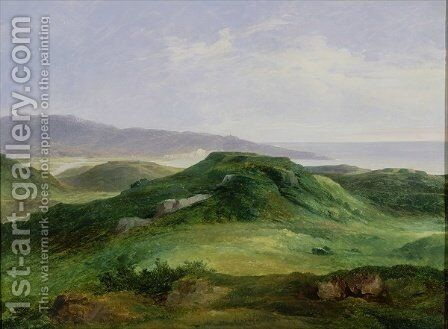 The Mouth of the River Bidassoa by Charles Renoux - Reproduction Oil Painting