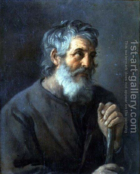 Portrait of an old man by Guido Reni - Reproduction Oil Painting