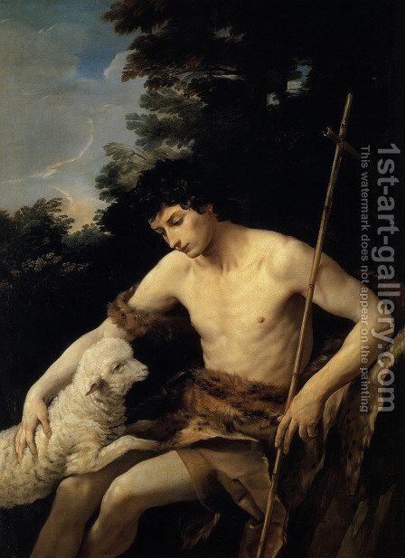 St. John the Baptist in the Wilderness, c.1625 by Guido Reni - Reproduction Oil Painting