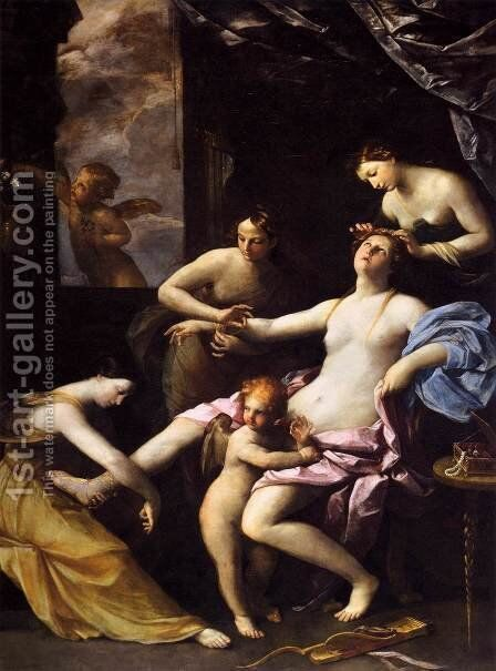 Toilet of Venus, c.1620-25 by Guido Reni - Reproduction Oil Painting