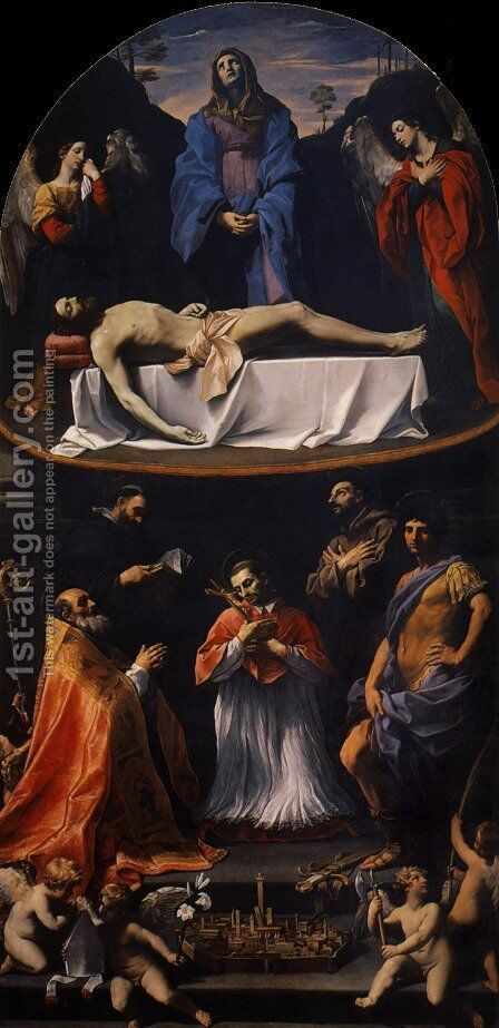 The Mendicantini Pieta, 1616 by Guido Reni - Reproduction Oil Painting