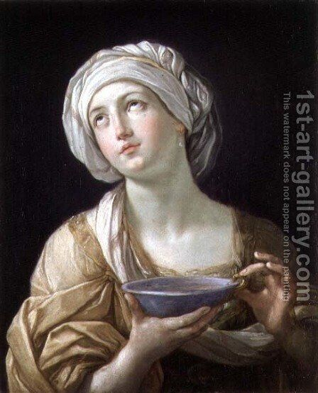 Lady with a Lapis Lazuli Bowl by Guido Reni - Reproduction Oil Painting