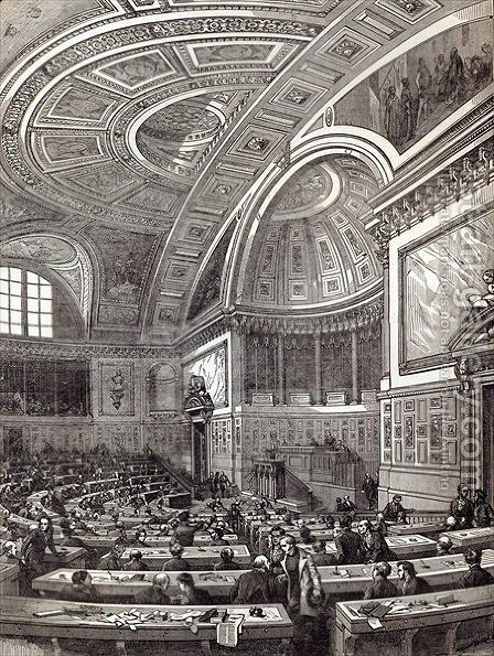 The French Chamber of Peers, from The Illustrated London News, 1st February 1845 by (after) Renard, Edouard - Reproduction Oil Painting