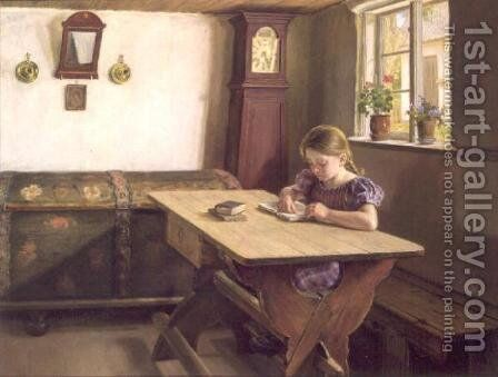 The Young Scholar by Holga Reinhard - Reproduction Oil Painting