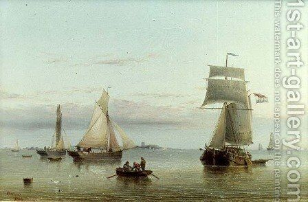 Calm on the Humber, 1864 by Henry Redmore - Reproduction Oil Painting