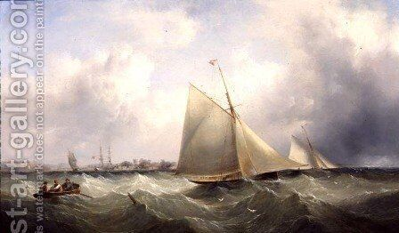 Yachting in the Humber by Henry Redmore - Reproduction Oil Painting