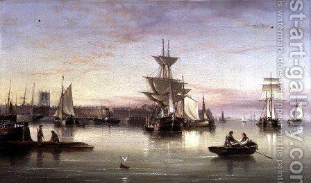 Hull from the Humber, 1874 by Henry Redmore - Reproduction Oil Painting