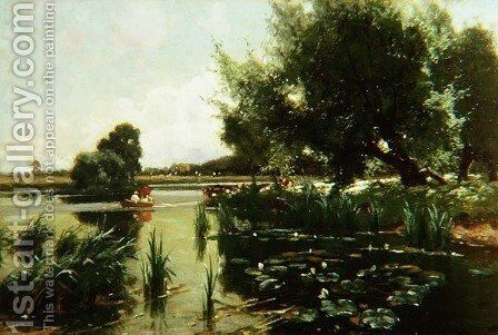 Summer, one of a set of the four seasons by Arthur Walker Redgate - Reproduction Oil Painting